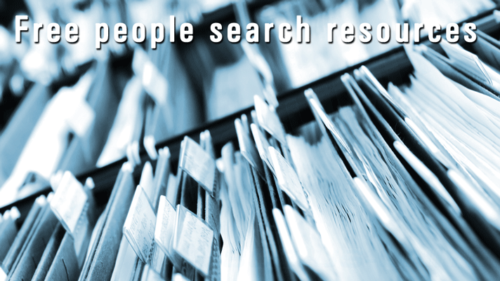 Free people search resources